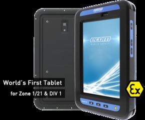 Intrinsically safe tablet: World's 1st tablet for Zone 1 / DIV 1